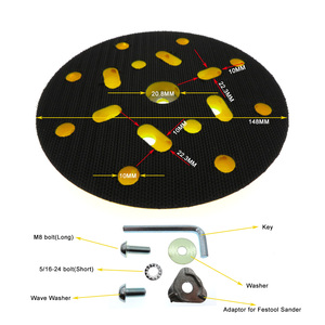 Image 5 - 6 Inch 150mm Sanding Pad Sander Backing Pad Hook and Loop with Side Holes Power Tools Accessories