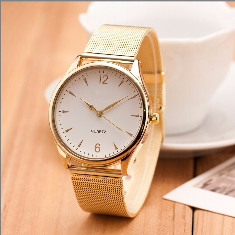 Casual Geneva Watch Women Metal Mesh Stainless Steel watches 2016 New Fashion Dress women quartz wristwatch relogio feminino Hot wristwatch new famous brand binger geneva casual quartz watch men stainless steel dress watches relogio feminino man clock hot
