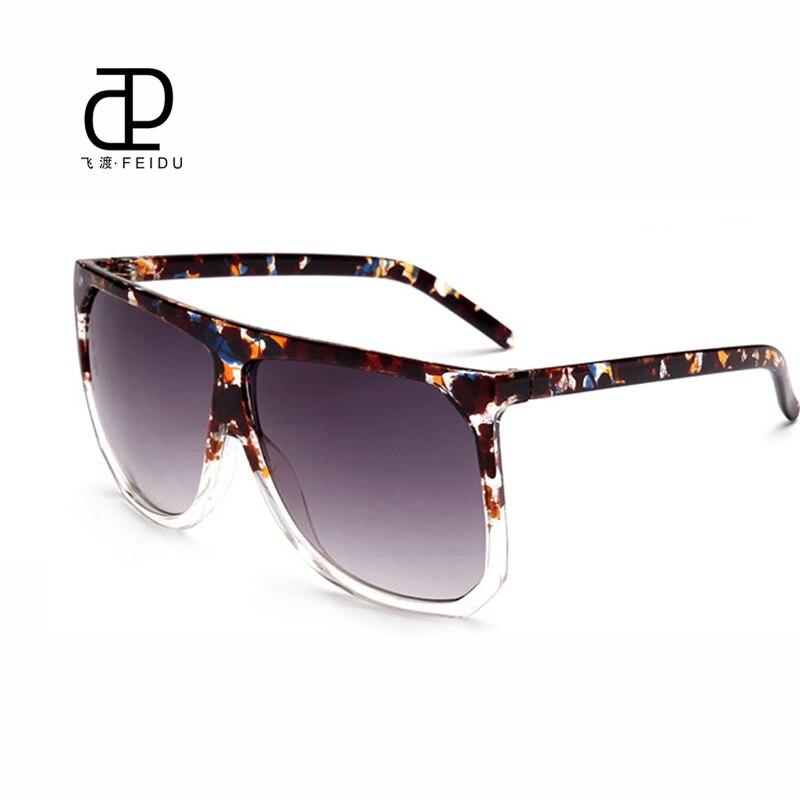FEIDU 2016 Moda Feminina Grande caixa de Óculos De Sol Retro Marca Designer  Óculos de Sol UV400 alta qualidade Oculos de sol Feminino em Óculos de sol  de ... d94fab8a80