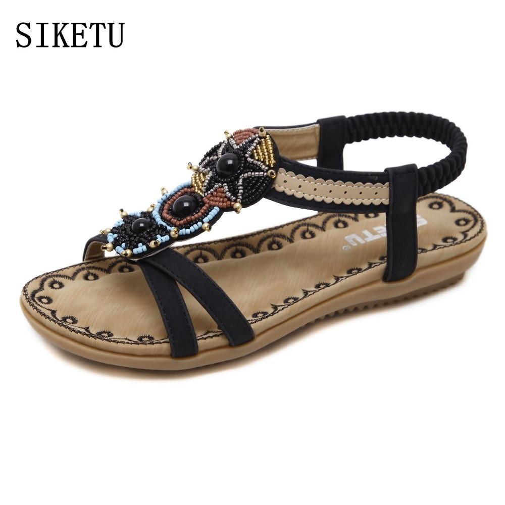 Detail Feedback Questions about SIKETU 2017 Summer women sandals bohemia  Soft bottom causal flip flops flat shoes Woman plus size fashion sandals  ladies ... d887b6afc28b