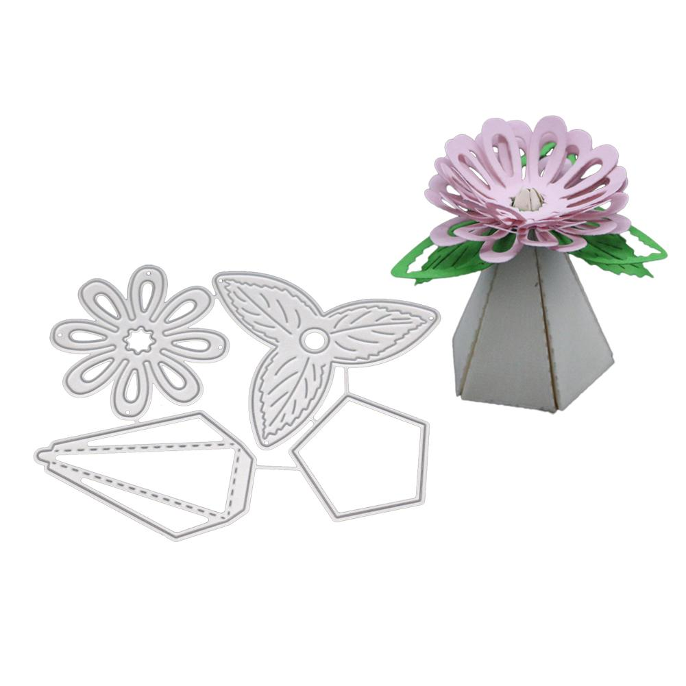 AsyPets Flower Stamps and Dies for Card Making Metal Cutting Dies New 2018-25