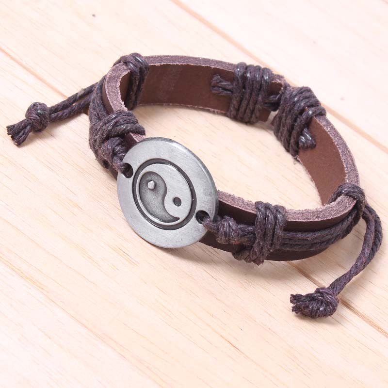 Vintage Leather Bracelet Women Twine Genuine Artificial Cuff For Men Pulsera Lederen Armband In Charm Bracelets From Jewelry