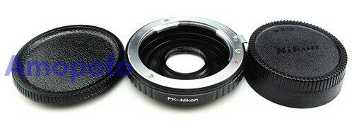 Amopofo pk-ai bande optique verre adaptateur, pour pentax pk k lens pour pour nikon f d750 d810 d3200. bande Optique en verre