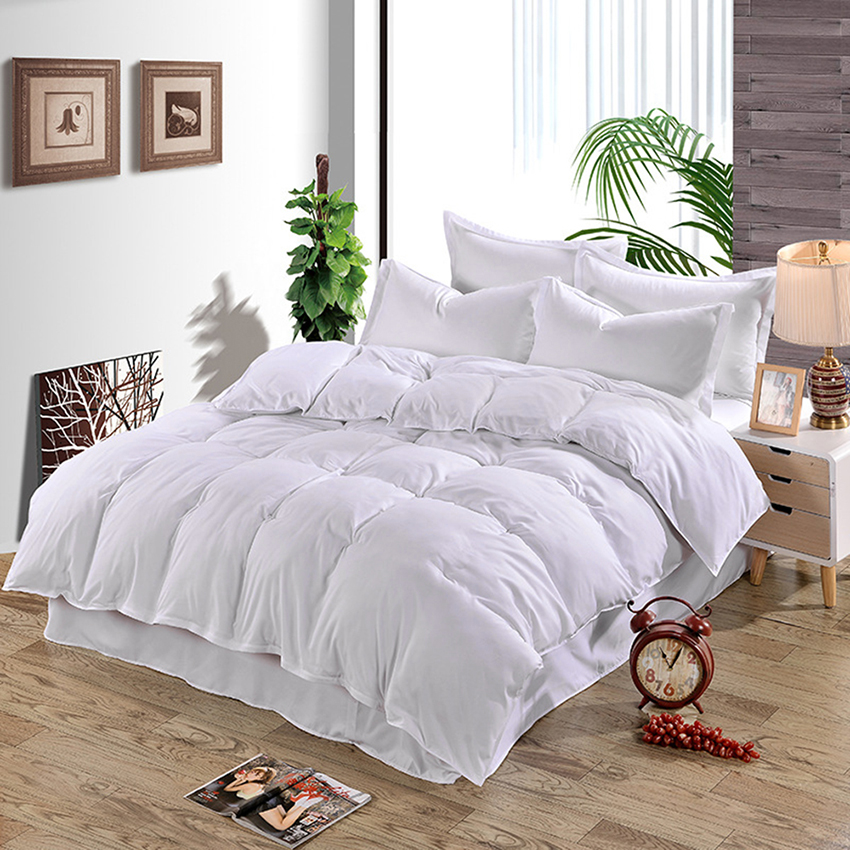 New 4 Solid Color Plain Duvet Cover <font><b>Bed</b></font> Cover Quilt Cover Single Double & King <font><b>Size</b></font> Comforter Bedding Cotton Silk Bedding