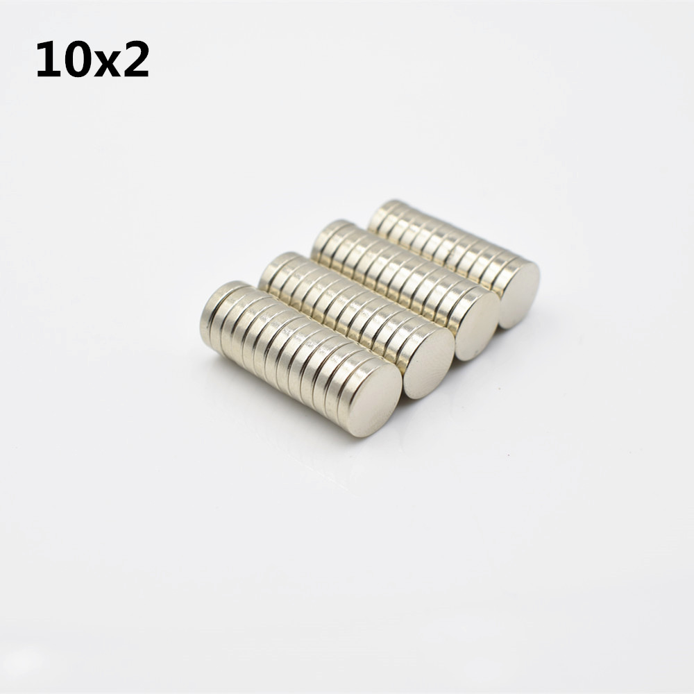 50pcs Neodymium magnet 10x2 Rare Earth small Strong Round permanent 10*2 mm fridge Electromagnet NdFeB nickle magnetic DISC 1pcs neodymium magnet 30x10 mm rare earth super strong round permanent powerful 30 10mm fridge electromagnet ndfeb magnetic