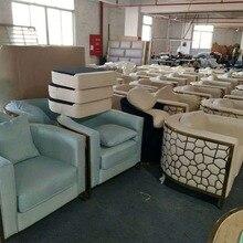 Постсовременный тканевый диван модельный номер в гонконгском стиле светильник роскошный диван мебель