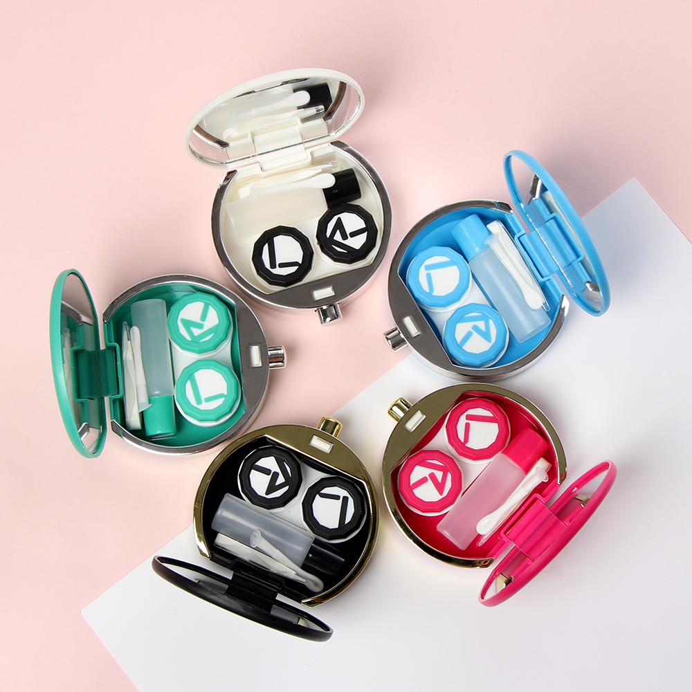 Portable Cute Perfume Bottles Shape Mini Contact Lenses Box Eyewear Container Lens Case Travel Kit Holder Eyewear Accessories