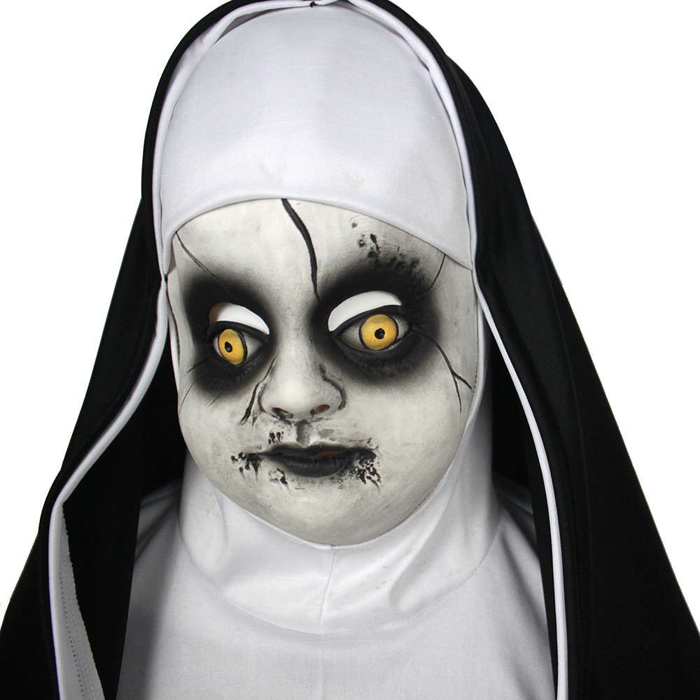 Children's Nun Mask Cosplay Valak Costume Accessory Cute Child Latex Half Face Masks Helemet Halloween Party Props Dropshipping