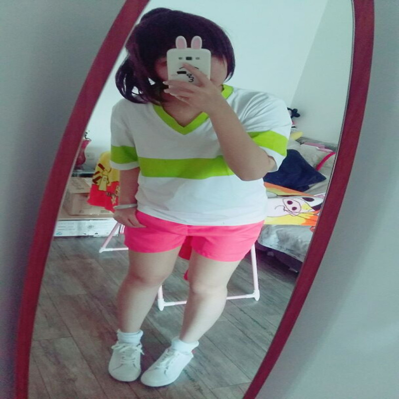 Image 3 - Spirited Away Chihiro Ogino Cosplay Costume Japan Anime Casual Costumes T shirt+Shorts-in Anime Costumes from Novelty & Special Use
