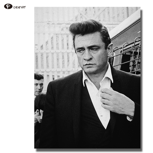 CHENFART Decoration Pictures Johnny Cash Posters And Prints Canvas Painting Wall For Bedroom No Framed