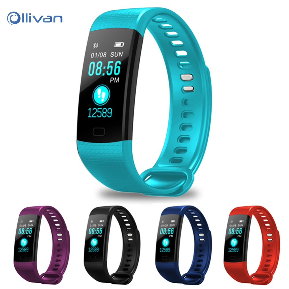 Y5 Bluetooth Smart Bracelet Heart Rate Blood Pressure Monitor Smart Band Color Screen Women Men Sport Fitness Track Pedometer goral y5 smart bracelet 0 96 inch tft color screen