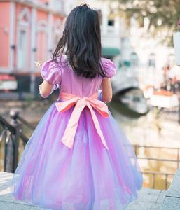 Image 5 - 女の子王女ラプンツェル衣装かつら編組かつらもつれた髪衣装パーティーファンシードレス 3 10 年 2019 新