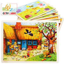 Millers farm apple tree house Wooden toys children 60 pieces of puzzle, kids puzzle toys,gift