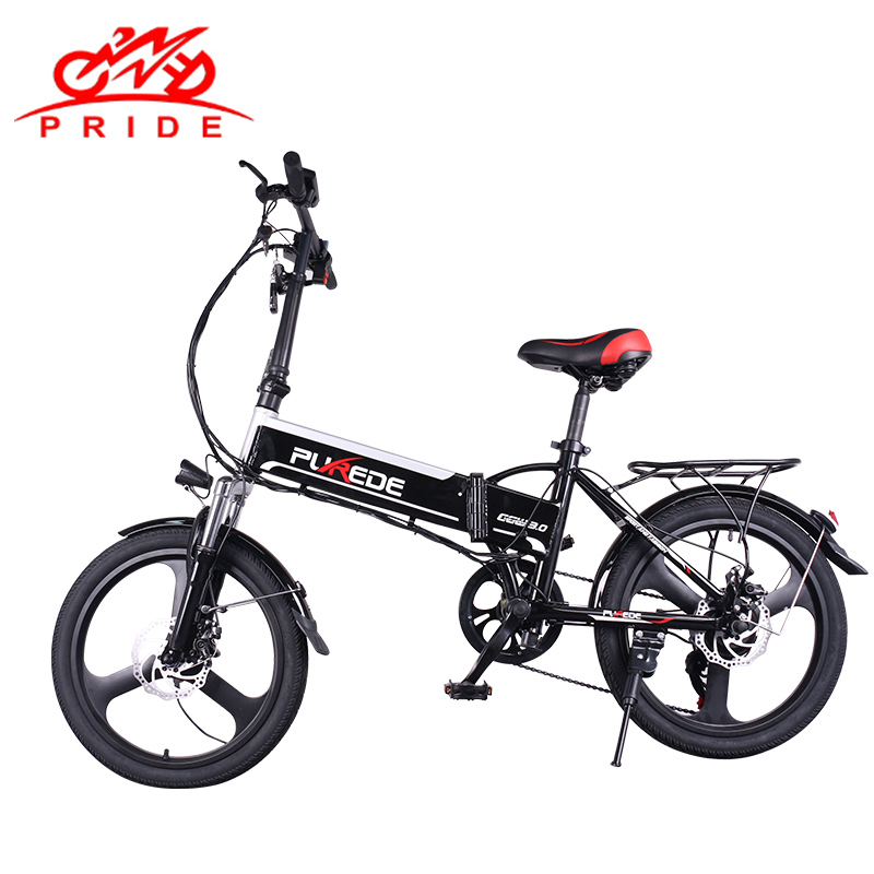 20inch Electric bike 48V12A Lithium Battery Aluminum Alloy Folding electric Bicycle 350W Powerful Mountain bike Snow/city ebike