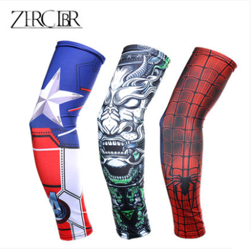 sleeves mens anti-UV sleeves summer ice fishing riding driving shade arm arm guard flower arm tattoo