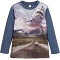 2017 Spring Children T Shirts Boys Clothes 3D Shark Printed Kids Clothing Fashion Boy T Shirt  100% Cotton Long Sleeve Shirts