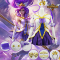 lol new Skin Janna cosplay costume for girls LoL Cosplay Fury of the storm Janna Cosplay Uniform Halloween Costumes