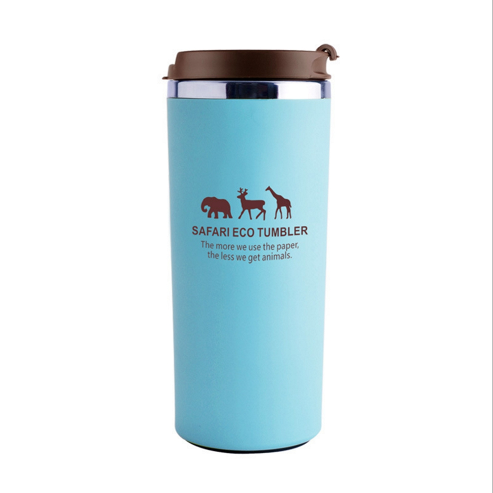 ONEDAY OD-W03 GRACE DAY ANIMAL WATCH CUP 380ML STAINLESS STEEL LEAK PROOF COFFEE CUP DOUBLE CUP OFFICEAL DESKTOP GIFT MUG