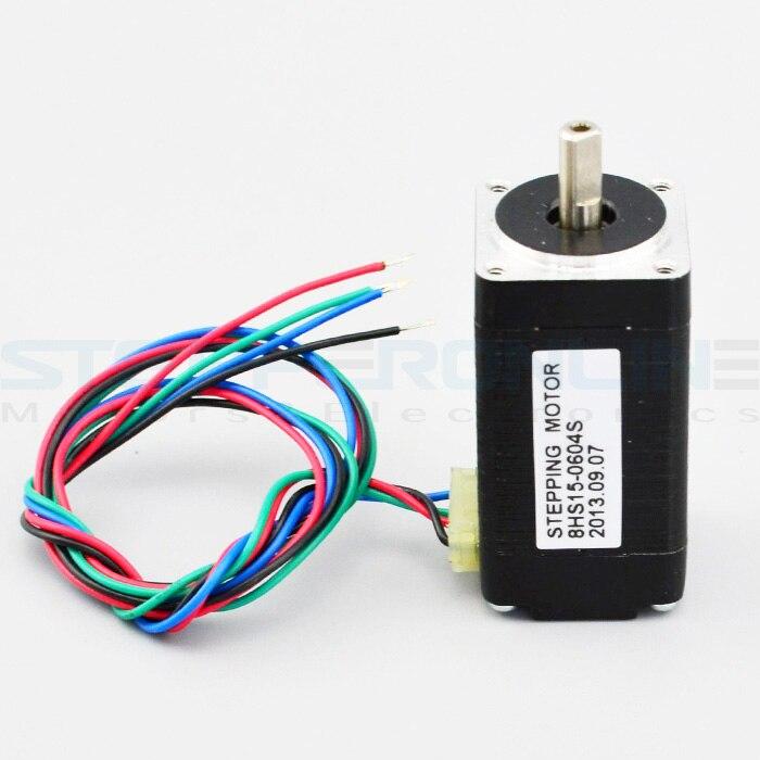 Nema 8 Stepper Motor 1.8deg Bipolar 0.6A 4Ncm/5.7oz.in 20x20x38mm 4-wire DIY CNC 76zy01 mig motor wire feed motor wire feeder motor dc24 1 8 18m min 1pk