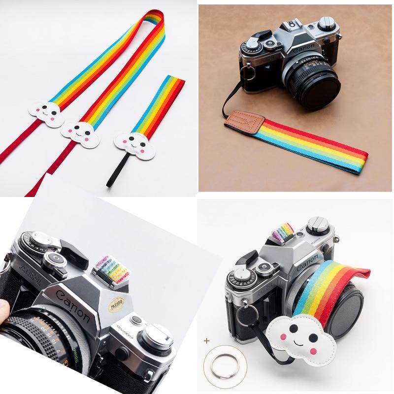 Universal Rainbow Camera Strap Camera Belt Wrist Strap Hotshoe For Canon Nikon Sony Pentax Fujifilm Samsung Panasonic