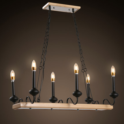Good Amercian Vintage Candle LED Pendant Light Fixtures Indoor Lighting For  Living Dining Room Home Iron Wooden