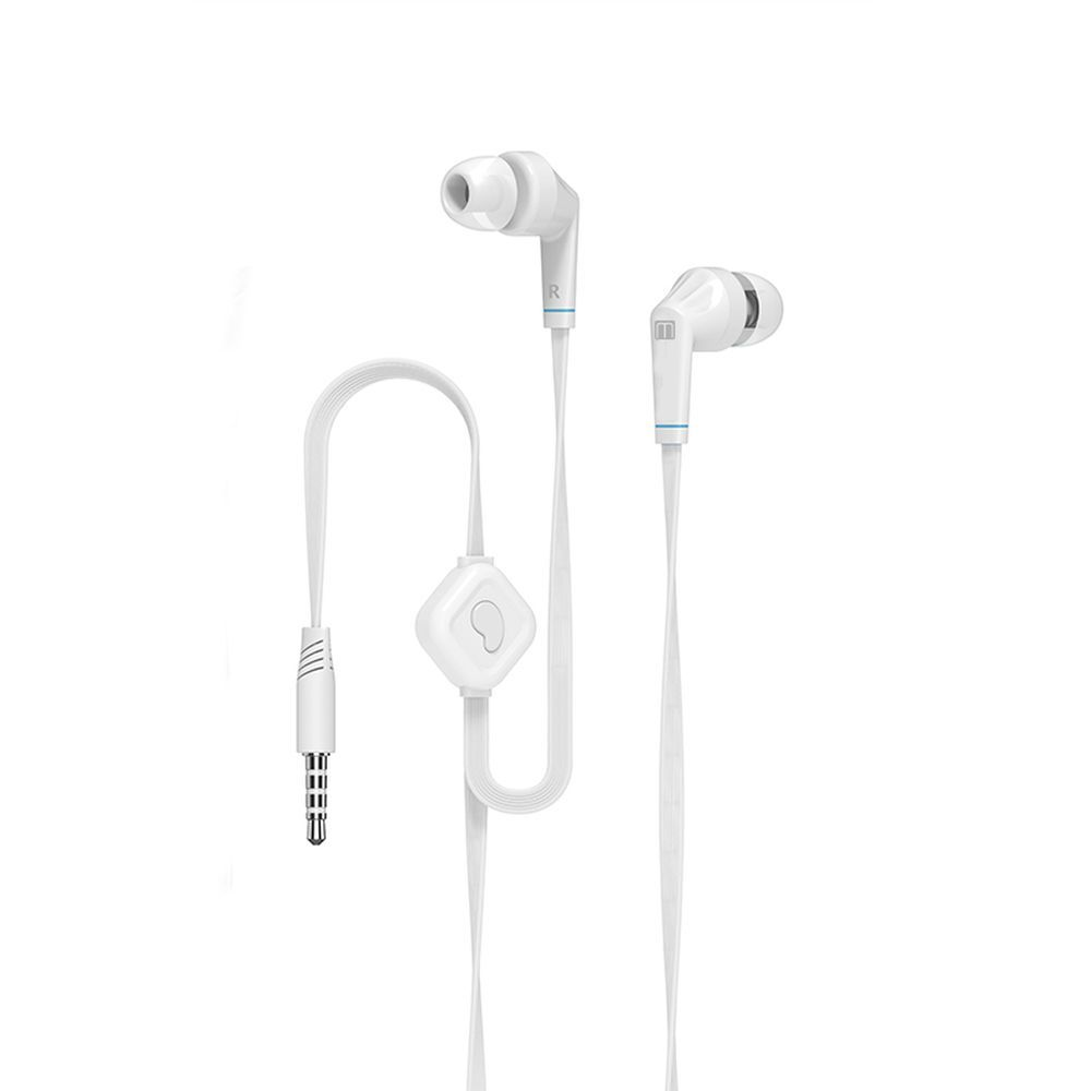Earphones & Headphones Mediagadget MGDAX100HSWT  with a microphone headset Portable Audio Video
