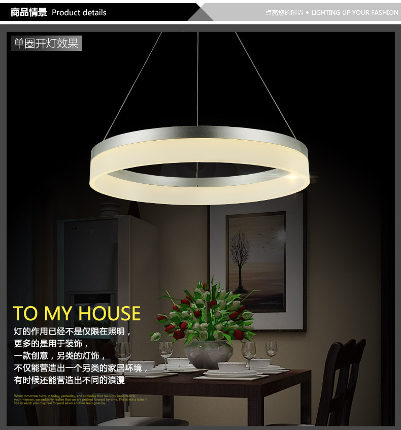 Pendant Lighting Manufacturers: Aliexpress.com : Buy Modern LED Single Ring Pendant Light