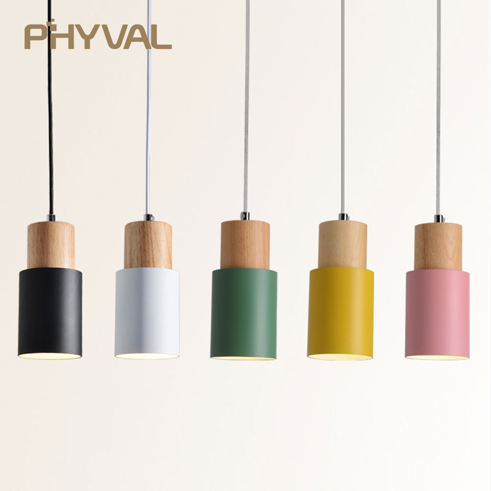 Modern Pendant Lights Nordic Wood Light Loft Pendant Lamps E27 220V for Dinning Room Home Decoration Restaurant Lighting Hotel modern simple diy pendant lamp living room dinning room pendant light home decoration lighting ac 110v 220v e27