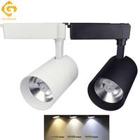 Track Lighting Lamp Track 20W 30W Aluminum Black White LED Cob Spotlights Track Light For Shop Store Office LED Rail Lamp