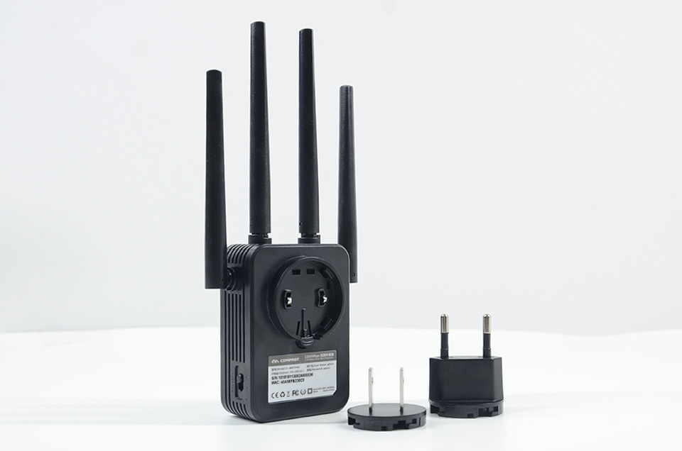 Image 4 - Comfast 1200Mbps Wireless Wifi extender Wifi Repeater/Router Dual Band 2.4&5.8Ghz 4 Wi fi Antenna long Range Signal Amplifier-in Wireless Routers from Computer & Office