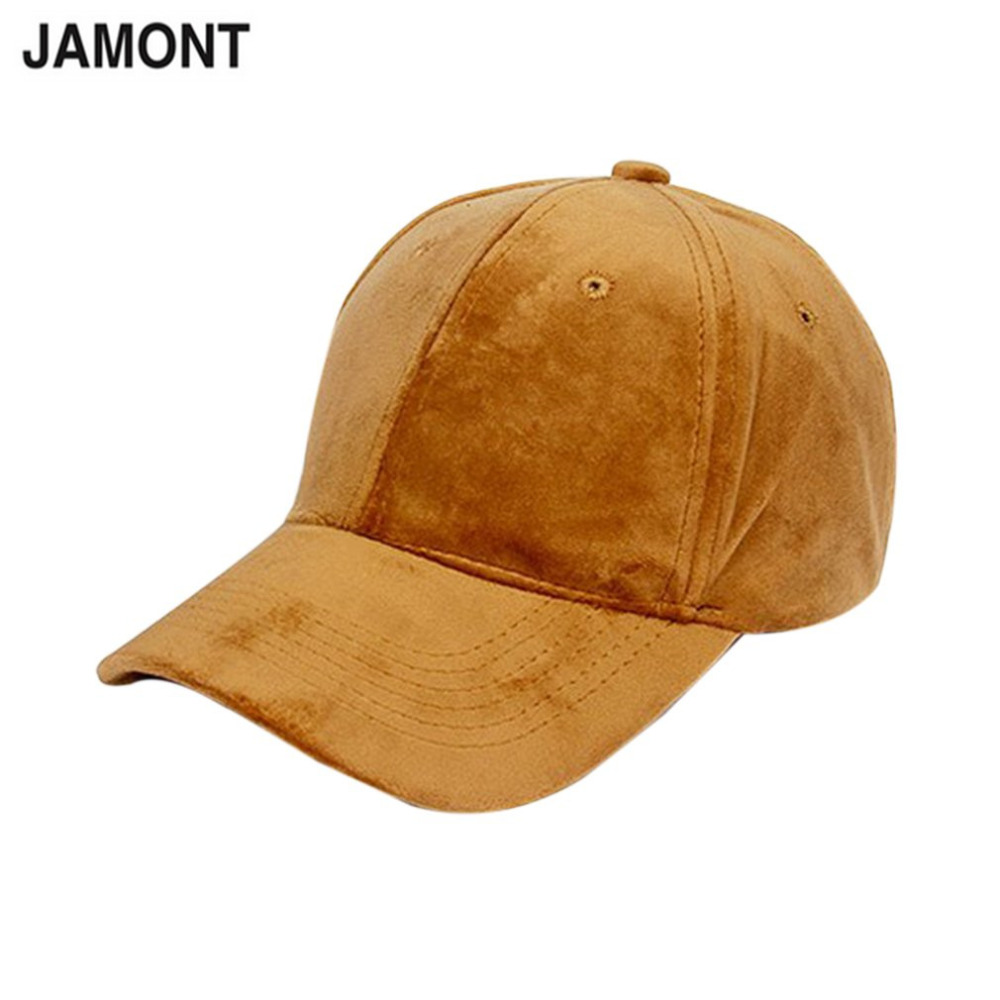 JAMONT Solid Color Velvet Baseball Caps Curved Brim 7 Colors Adjustable Unisex Hip Hop Bones Hat 2018 New Warm Egg Cap Wholesale which in shower adjustable women knitted winter baseball cap warm snapback real raccoon hat solid color real fur pompom bones