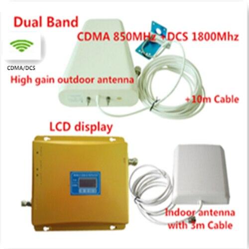 Dual Band Mobile Signal de Téléphone Répéteur CDMA 850 MHz 4G DCS 1800 MHz Signal Booster Signal de Téléphone Cellulaire Amplificateur avec antenne