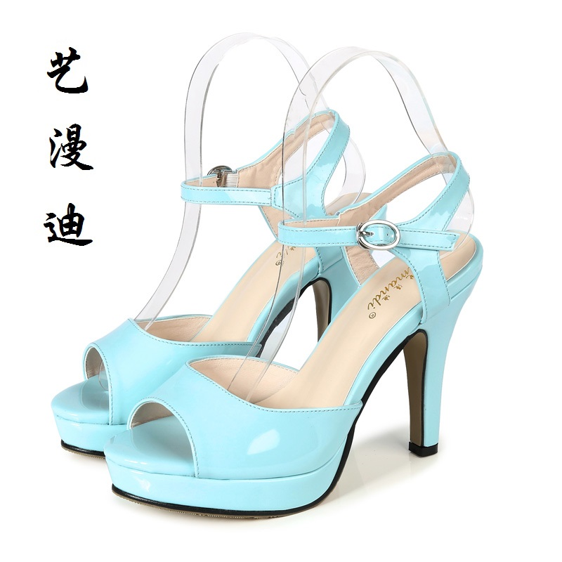 2017 Small Size 31-43 Fashion Blue Sexy Women Sandals High Heels Ladies Pumps Shoes Woman Summer Style Chaussure Femme 32 33 34 newest summer style woman pumps shoes high quality ladies high heels basic shoes for party free shipping size 37 43