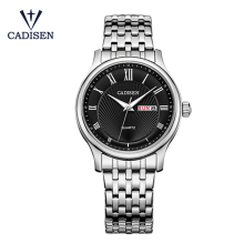 c6128 CADISEN luxury business mens watches stainless steel quartz classic waterproof