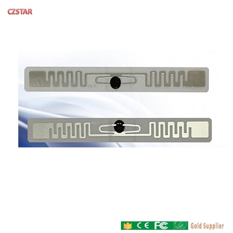 Anti lágrima tag RFID UHF etiqueta automóvel farol 6C EPC 915 mhz 868 mhz M4QT adhensive RFID passiva Pára à prova d' água rótulo