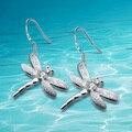 Последние модные аксессуары. стерлингового серебра 925 серьги стрекоза кулон. нежный маленький подарок милые женщины серьги