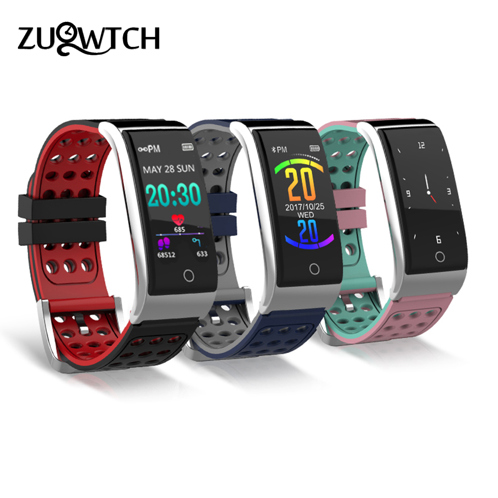 Smart Bracelet Fitness Tracker Smart Wristband Heart Rate Monitor ECG/PPG Blood Pressure Smart Watch Band for IOS Android Phone cf007 smart band heart rate blood presure monitor smart watch sport tracker monitor smart bracelet wristband for ios android