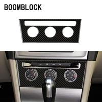 BOOMBLOCK Car Covers Carbon Fiber Consle AC Switch For Volkswagen VW Golf 7 GTI R GTE GTD MK7 2013 16 2017 LHD