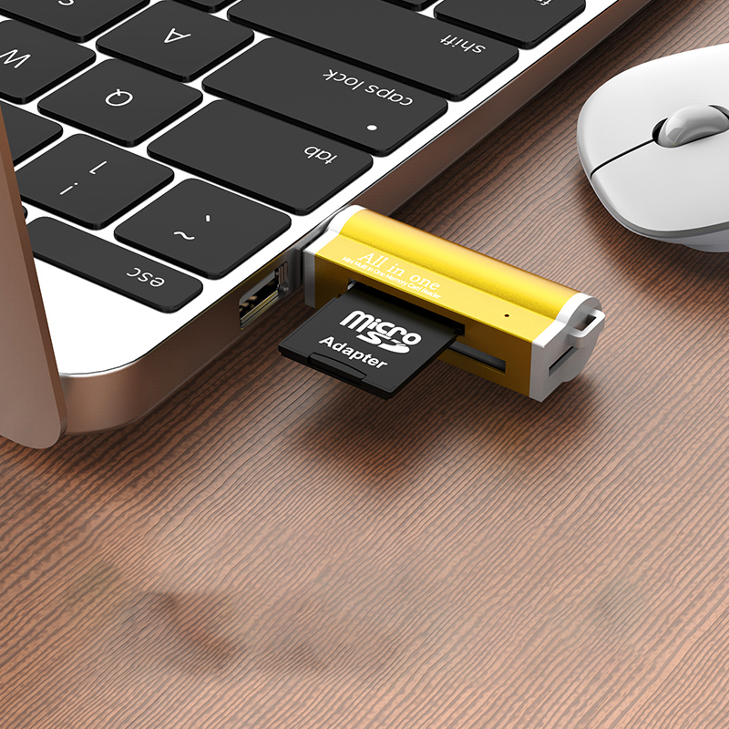 Image 3 - Multi in 1 Memory SD Card Reader for Memory Stick Pro Duo Micro SD,TF,M2,MMC,SDHC MS card reader A variety of colors-in Card Readers from Computer & Office