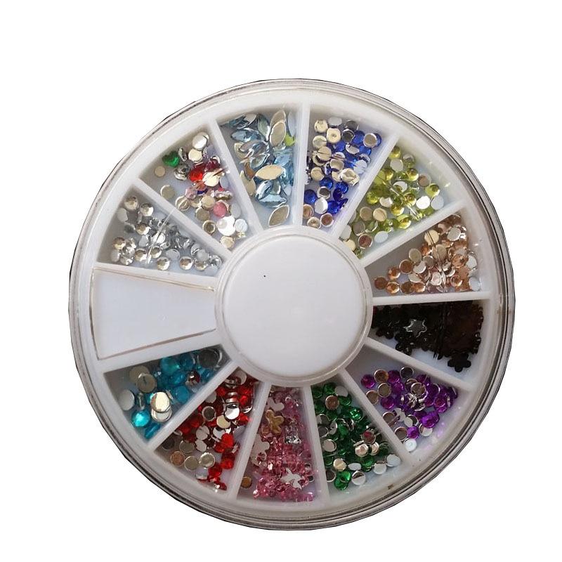 3d Ruota Nail Art Decoratie Edelstenen Accessoires DIY Wiel 12 - Nagel kunst - Foto 1