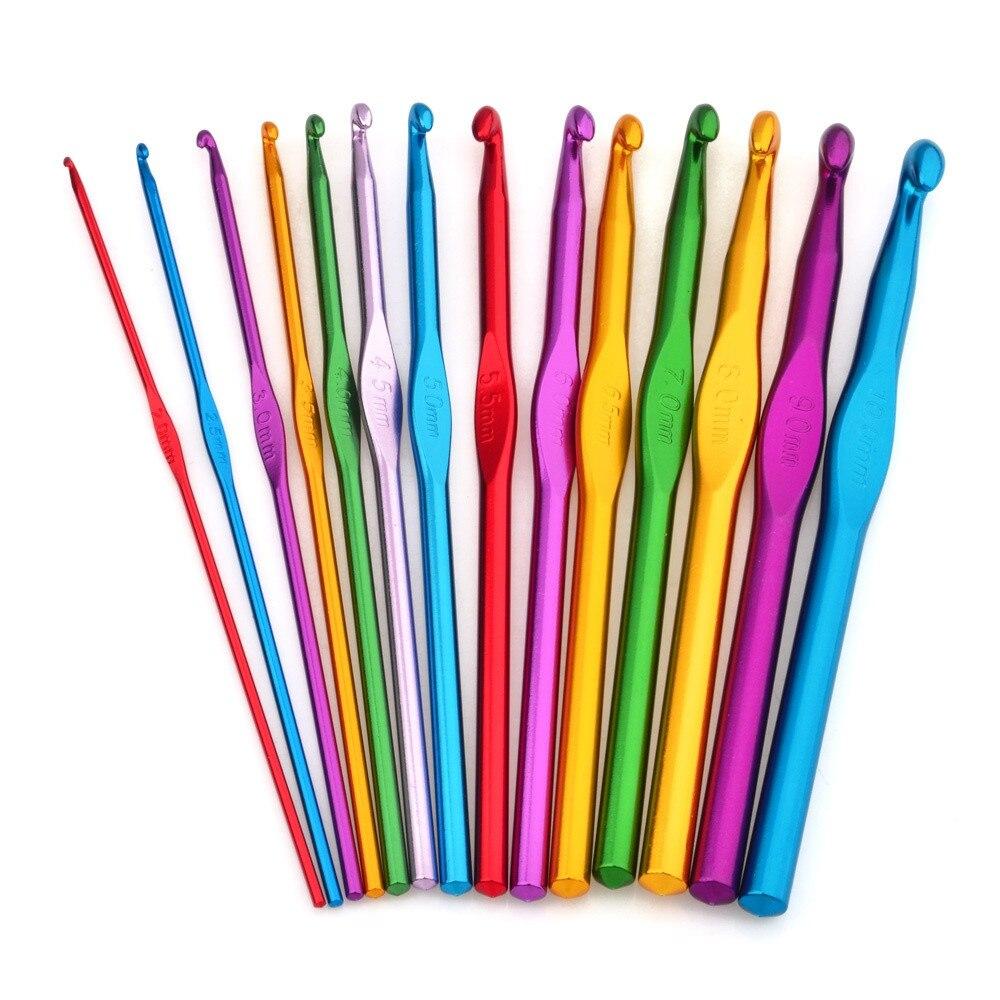 Knitting Needle Sizes 35mm : Aliexpress buy sizes multi colored aluminum