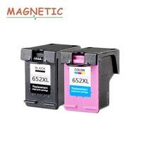 2pcs For HP Ink Cartridges 652 Compatible For HP 652 652XL Deskjet 1115 1118 2135 2136