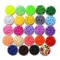 Акриловые бусины-разделители 4 мм для изготовления ювелирных изделий, разноцветные Круглые бусины в форме Кори, аксессуары ручной работы дл...