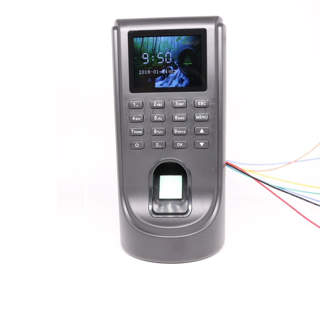 TCP/IP Network Color Lcd Biometric Fingerprint Time Attendance Access Control System Standalone Keypad with Software SDK network access control staff attendance management system