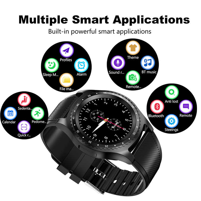 LIGE 2019 New Smart Watch Men Women WristWatch Support With Camera Bluetooth SIM TF Card For Android Phone reloj inteligente+Box