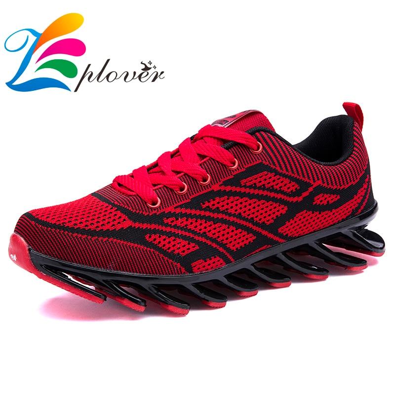 Zplover nueva primavera otoño mens trainers pisos transpirable zapatos de lona d