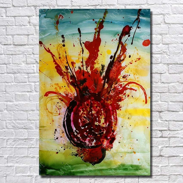 Hand Painted Chihuly Glass Painting Pictures Living Room Wall Decor Oil On Sale High Quality