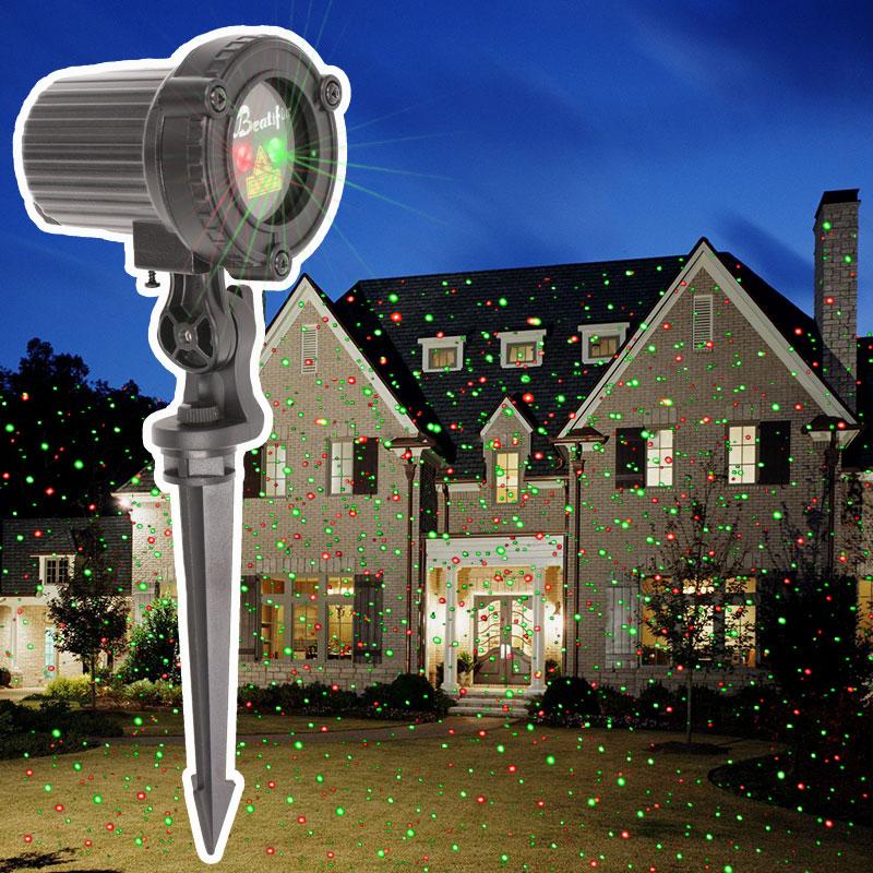 2018 stern Weihnachten Lichter Outdoor Laser Projektor Duschen Weihnachten Baum Licht Neue Jahr Eve Urlaub Dekorationen für Haus