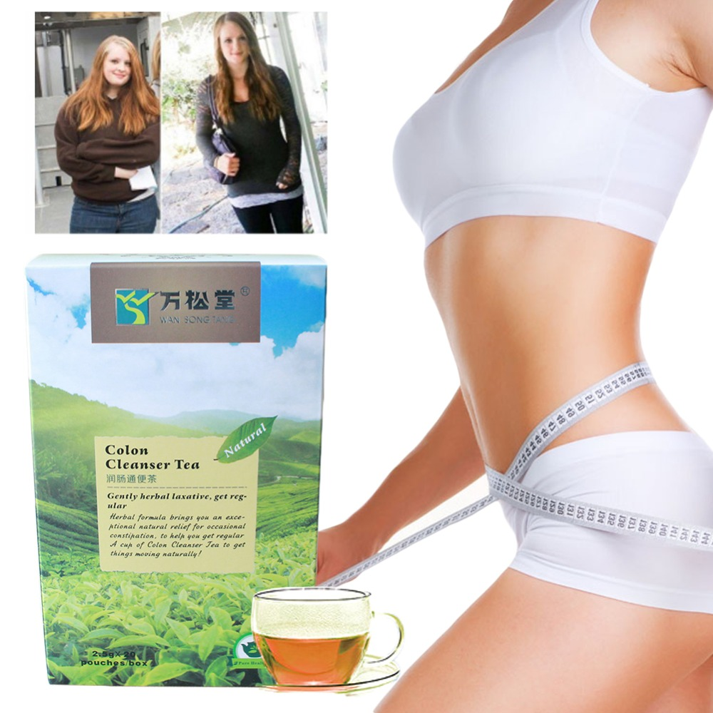 New Style Colon Cleanser Tea 20 Teabags Chinese Body Slimming Colon Cleanser Healthy Care Herbal Diet Tea Hot!