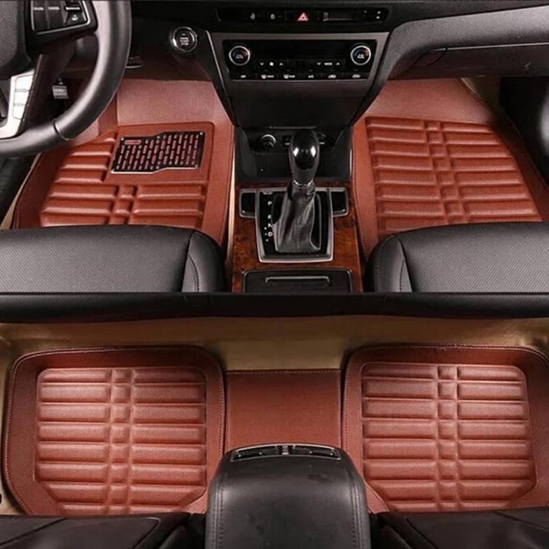 5pcs set New High Quality Universal Dustproof Car Floor foot Mat Flameproof Skidproof Carpets Set car